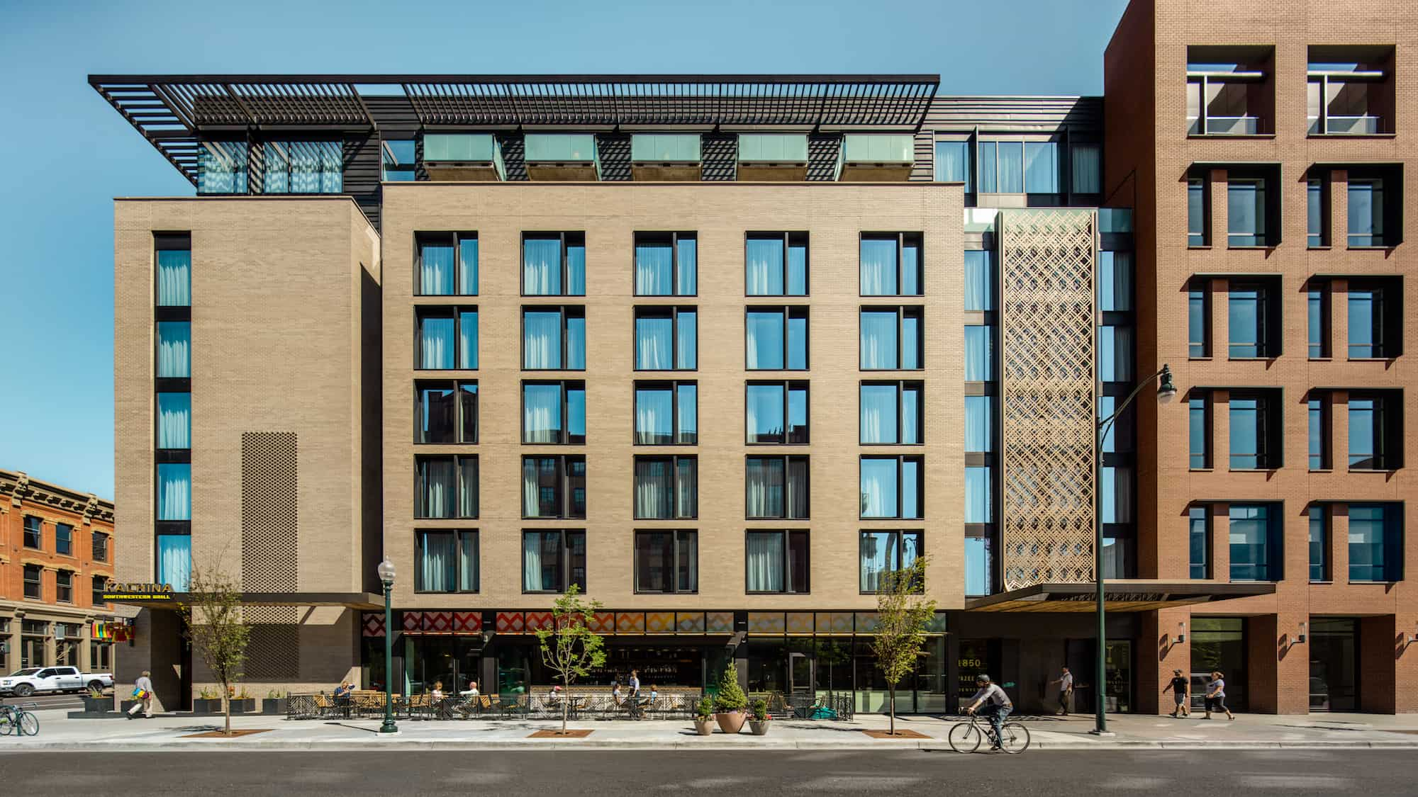 The anchor of the Dairy Block redevelopment, the Maven Hotel was created to service as a community hub, partnering with local tenants and acting as the center of a new Denver attraction.