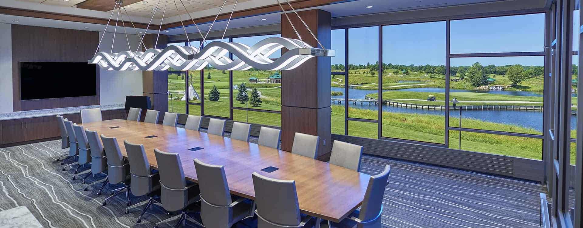 Mystic Lake Boardroom by DLAA, D L ADAMS ASSOCIATES, Audio Visual & low voltage consulting, USA