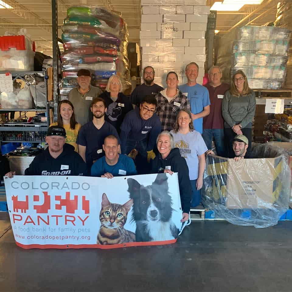 DLAA volunteering at Colorado Pet Pantry