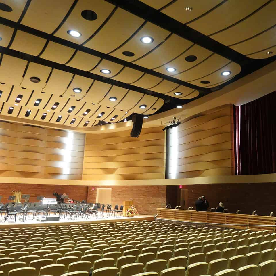 CASPER COLLEGE GERTRUDE KRAMPERT THEATRE, Casper, Wyoming Acoustics by DLAA, D L ADAMS ASSOCIATES, Acousticians, performing arts - cultural planning and design consultants, USA