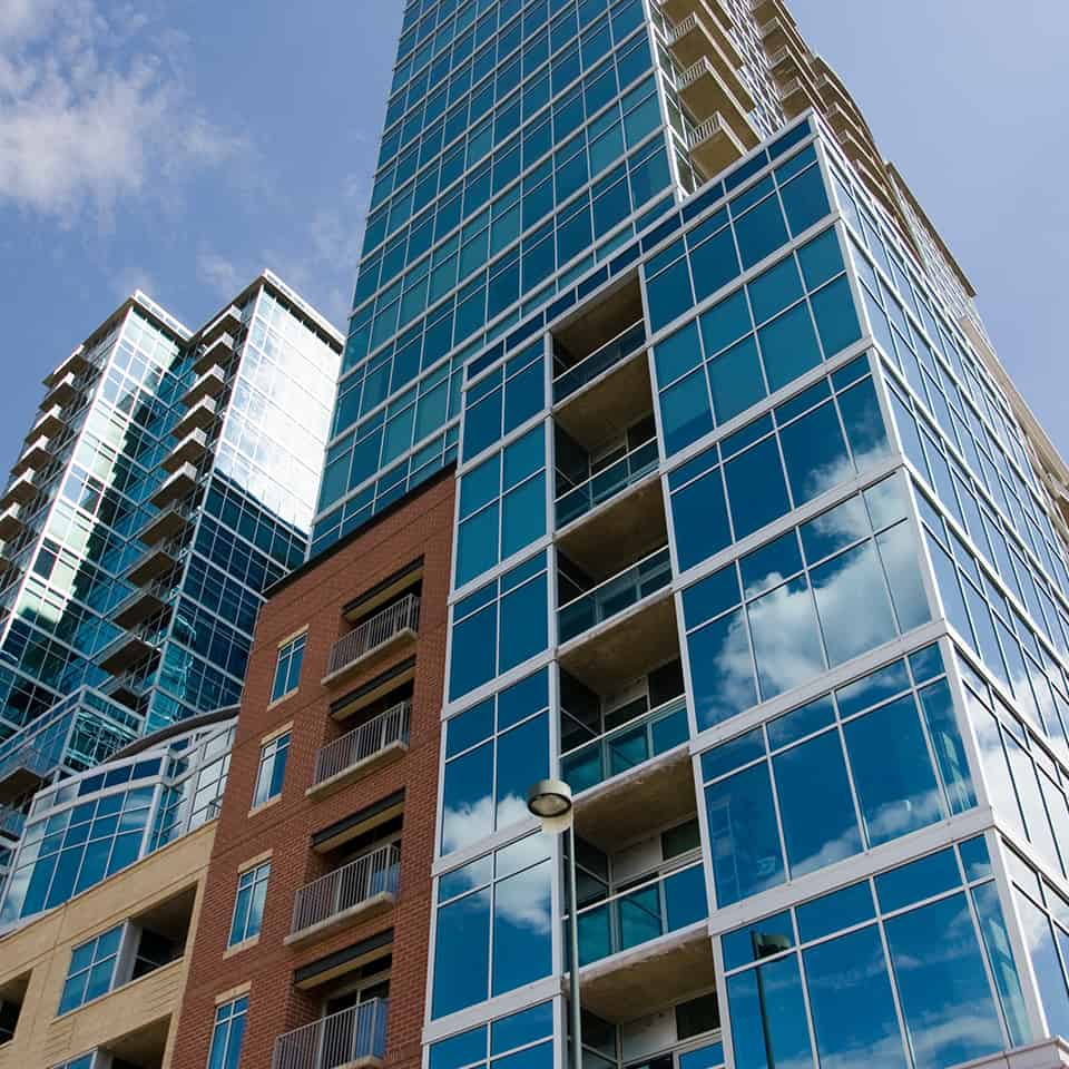 GLASS HOUSE, Denver, CO Acoustics by DLAA, D L ADAMS ASSOCIATES, high rise mixed use residential acoustical consulting, USA