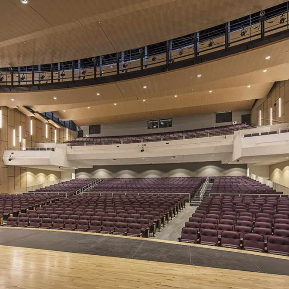 JOHNSTON HIGH SCHOOL AUDITORIUM, Johnston, IA Education, High school, K12, K8, University, STEAM Classroom Acoustics, STEM classroom acoustics, AV classrooms, Lecture halls, DLAA – D L ADAMS ASSOCIATES, Denver, Colorado, USA