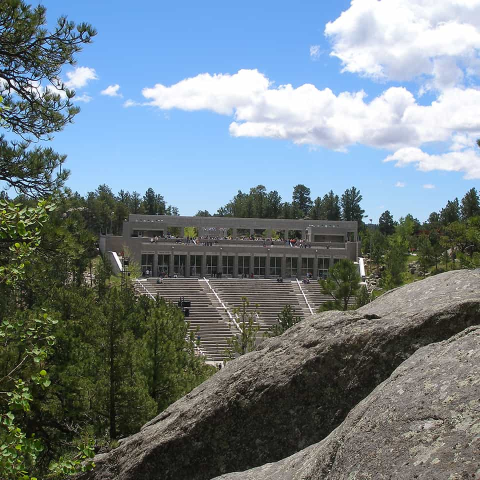 MOUNT RUSHMORE VISITOR CENTER AND AMPHITHEATER, Rapid City, DLAA, D L ADAMS ASSOCIATES, sports and entertainment venue acoustics, USA