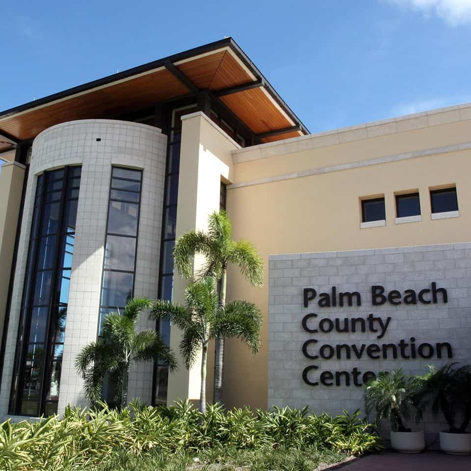 PALM BEACH CONVENTION CENTER, West Palm Beach, FL DLAA - D L ADAMS ASSOCIATES acoustical consultant for government and civic agencies, acoustics, noise control, sound masking, noise cancellation, and isolation