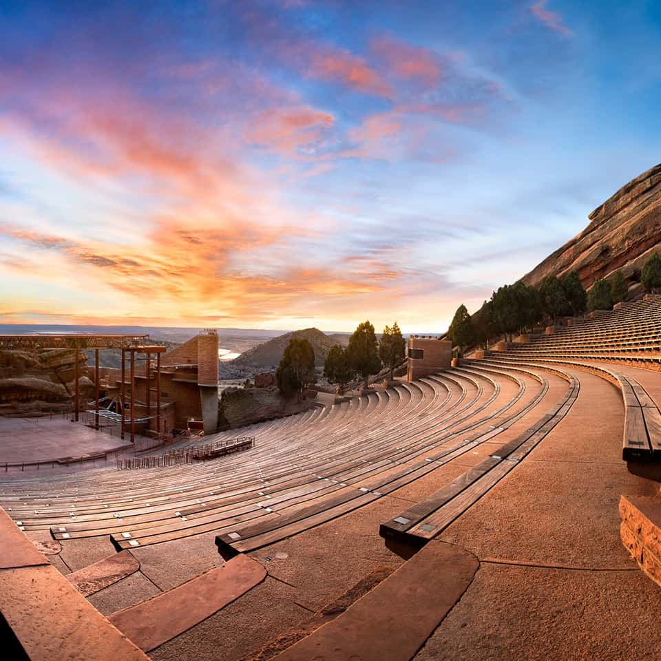 RED ROCKS AMPHITHEATRE, Morrison, CO acoustics by DLAA, D L ADAMS ASSOCIATES, Acousticians, performing arts - cultural planning and design consultants, USA