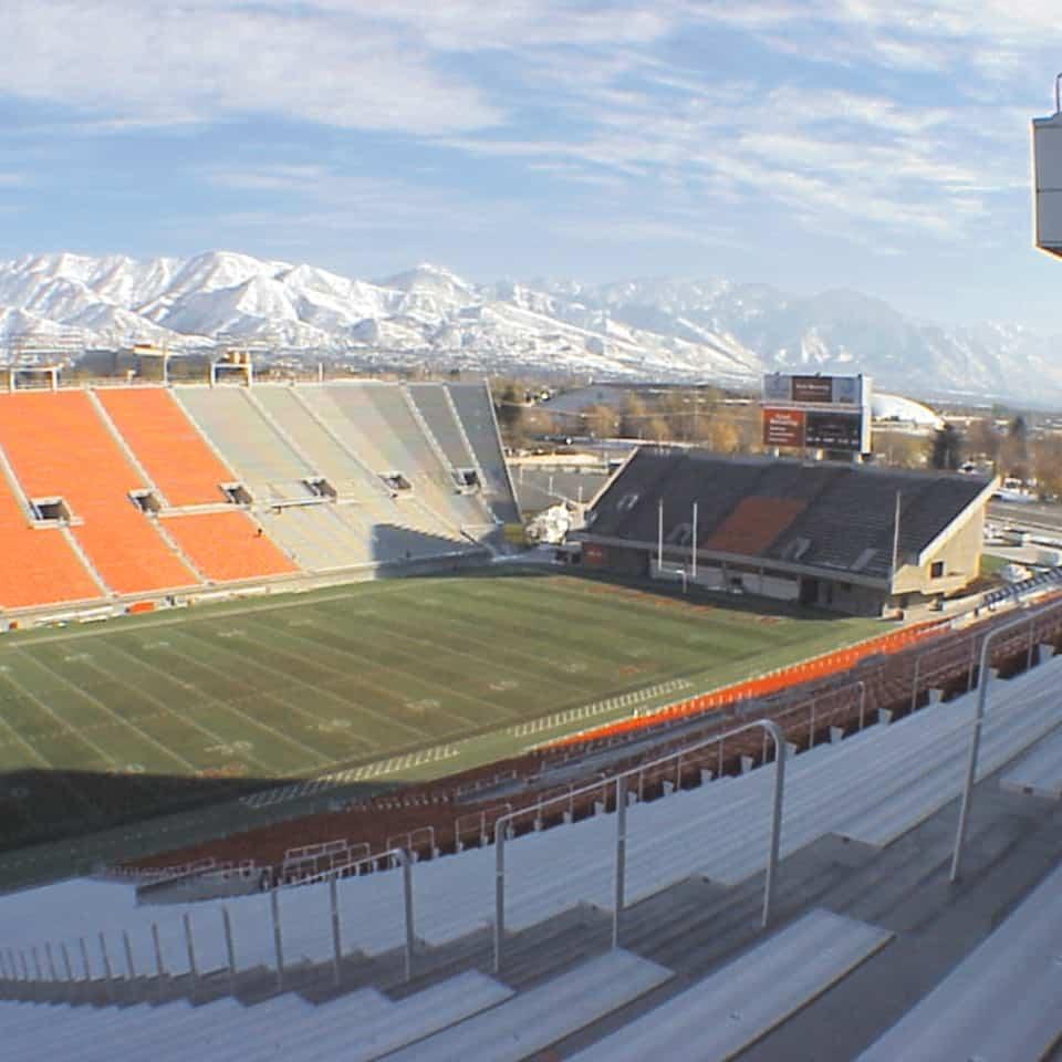 The UNIVERSITY OF UTAH, RICE-ECCLES STADIUM, Salt Lake City, Utah DLAA, D L ADAMS ASSOCIATES, sports and entertainment venue acoustics, USA