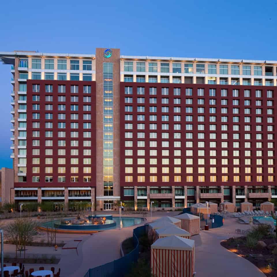 TALKING STICK CASINO/CONVENTION CENTER AND HOTEL, Scottsdale, AZ DLAA, D L ADAMS ASSOCIATES, sports and entertainment venue acoustics, USA