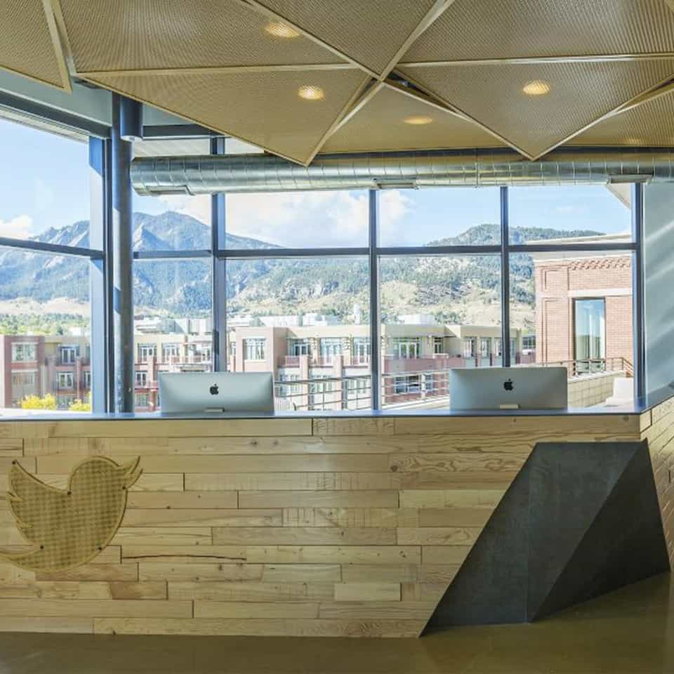 TWITTER REGIONAL OFFICE Boulder, CO Corporate, Commercial, Acoustical Solutions, DLAA - D L ADAMS ASSOCIATE acoustical consulting services to the A&E industry, for over 40 years in the USA