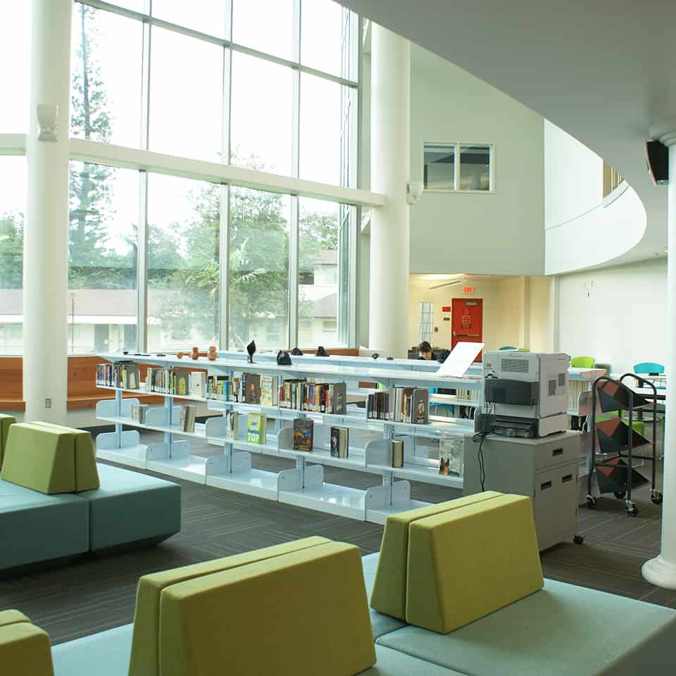 WINDWARD COMMUNITY COLLEGE LIBRARY, Kailua, Hawaii acoustics by A – D L ADAMS ASSOCIATES DLAA - D.L. Adams Associates, Architectural Acoustic and Acoustical Design